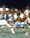 "Gale Sayers Autographed/Signed Chicago Bears 8x10 NFL Action Shot Photo ""HOF 77"""