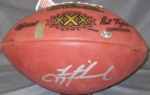 Troy Aikman Autographed/Signed Super Bowl XXX Football Dallas Cowboys