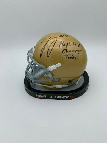 Jaylon Smith Signed Notre Dame Mini Helmet w/ Play Like a Champion Today Inscription