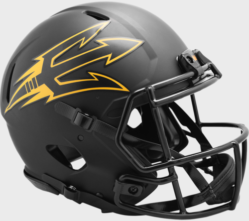 North Dakota Fighting Sioux Matte Kelly Green Riddell Speed Mini Helmet