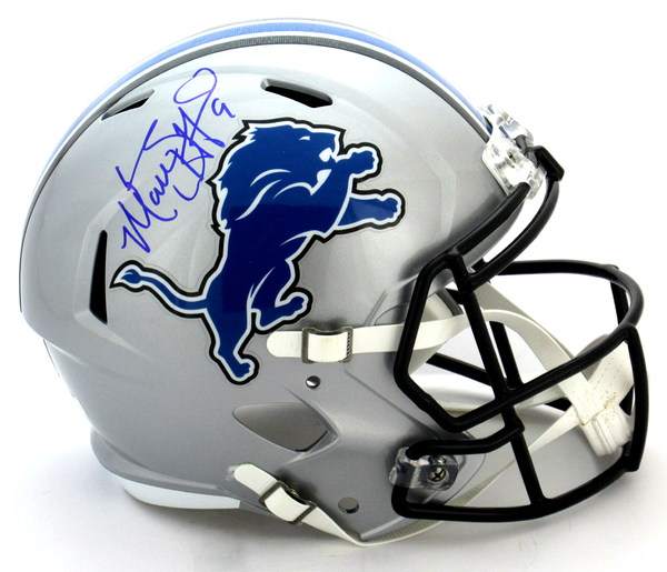 Matthew Stafford Signed Detroit Lions Riddell Full Size Speed NFL Helmet