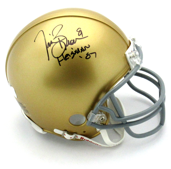 857eac02b5d Tim Brown Signed Notre Dame Fighting Irish Riddell NCAA Mini Helmet Wi –  SPORTSCRACK