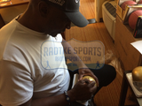 "Tim Brown Signed Notre Dame Fighting Irish Riddell NCAA Mini Helmet With ""Heisman 87"" Inscription"