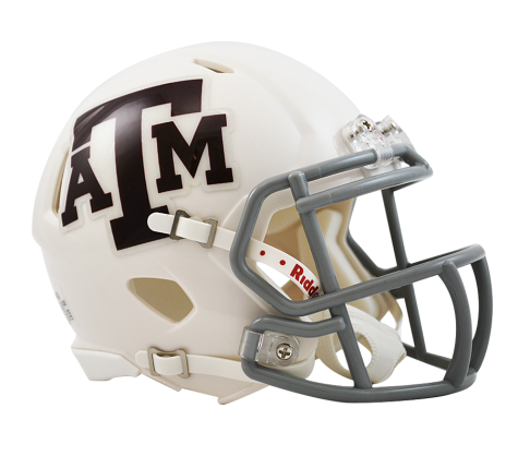 Texas A&M White Riddell Speed Mini Helmet