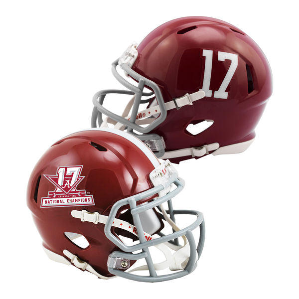 Alabama Crimson Tide 2017 National Champions Mini Speed Football Helmet