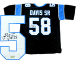 Thomas Davis Signed Carolina Panthers Black Custom Jersey