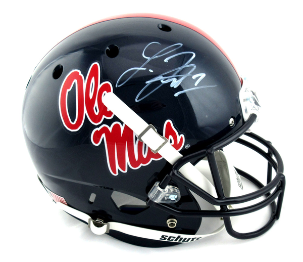 Laquon Treadwell Signed Ole Miss Rebels Schutt Navy Full Size NCAA Helmet
