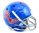 Laquon Treadwell Signed Ole Miss Rebels Schutt Powder Blue Full Size NCAA Helmet