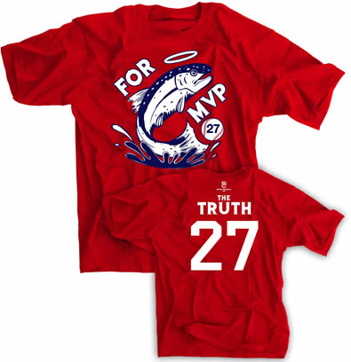 TROUT FOR MVP ANAHEIM THE TRUTH 27 SHIRT