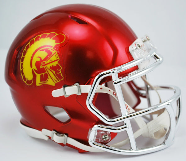 USC Trojans CHROME Riddell Speed Mini Helmet