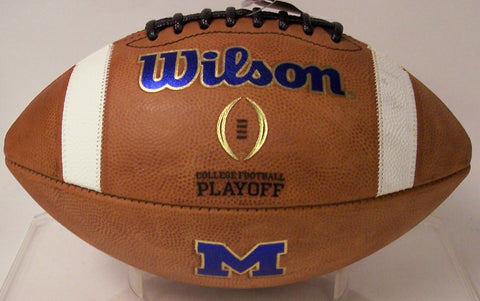 MICHIGAN GAME MODEL AUTHENTIC GST WILSON COLLEGE FOOTBALL PLAYOFF FOOTBALL