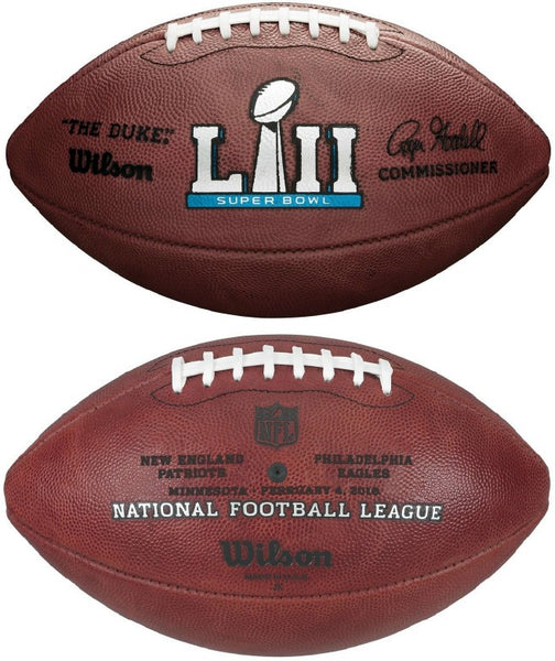 Wilson Official Leather NFL® SUPER BOWL 52 LII Full Size Game Football Philadelphia Eagles vs New England Patriots