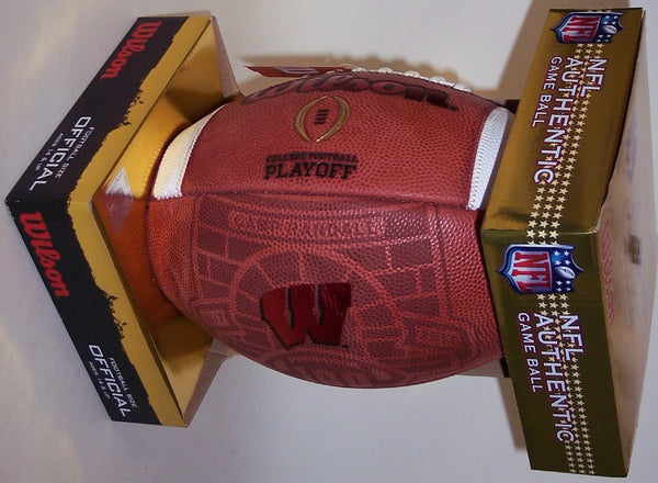 Wilson Official Leather Wisconsin Badgers NCAA Football - F1009IDG