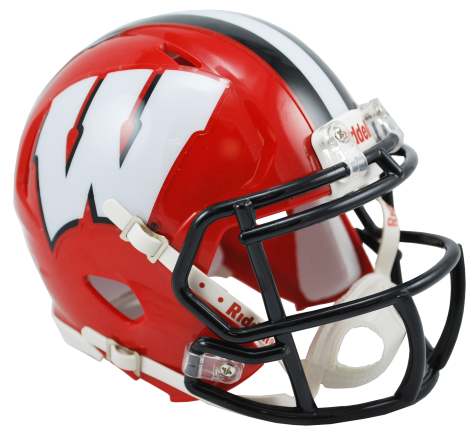 Wisconsin Badgers Red Alternate Riddell Speed Mini Helmet