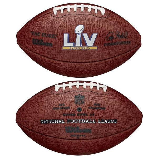 Super Bowl 55 Wilson Full Size Official NFL Game Football Tampa Bay Buccaneers vs. Kansas City Chiefs