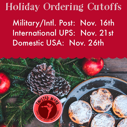 2018 Winter Holiday Ordering Cutoffs