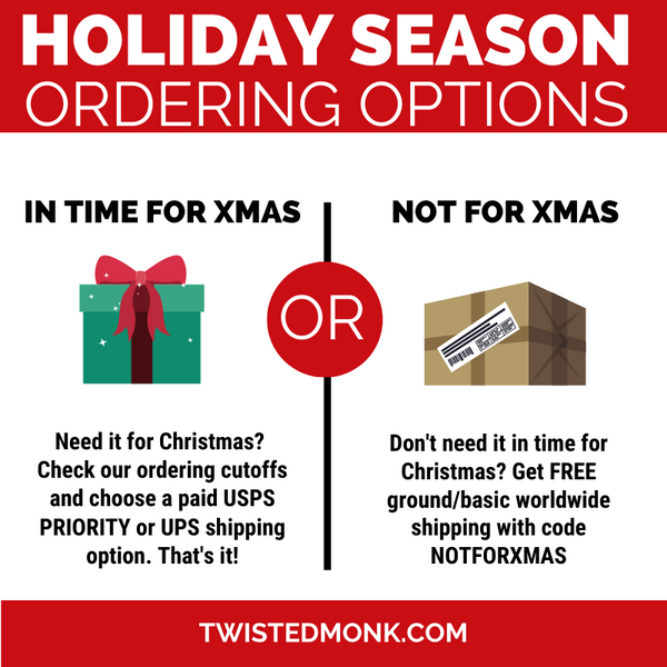 "Holiday Season Ordering Options, ""Not For Xmas"" Free Shipping"