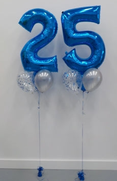 Pick An Age Blue Numbers Birthday Balloon Bouquet