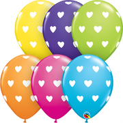11 inch Big Hearts Assortment Latex Balloons