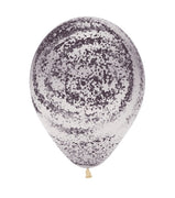 11 inch Graffiti Marble Black Crystal Clear Balloons