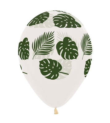 11 inch Palm Fronds Diamond Clear Balloons