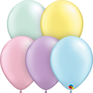 Qualatex 11 inch Pearl Pastel Assortment Uninflatable Latex Balloons