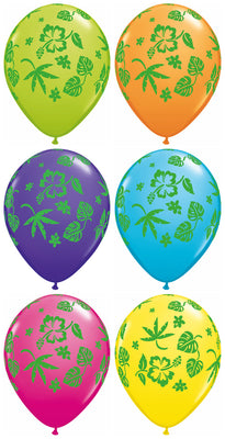 11 inch Tropical Floral Assortment Balloons