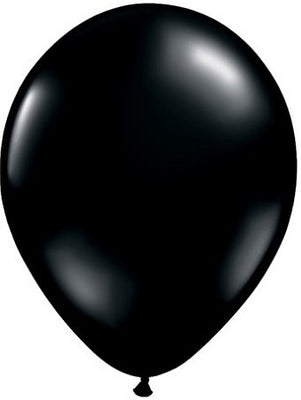 Qualatex 11 inch Onyx Black Uninflated Latex Balloon