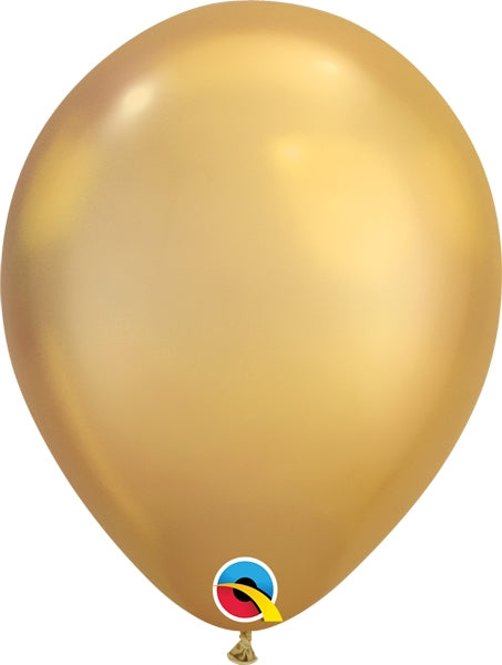 Qualatex 11 inch Uninflated Chrome Gold Balloon