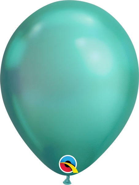 Qualatex 11 inch Chrome Green Uninflated Latex Balloon