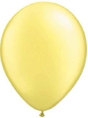 Qualatex 11 inch Pearl Lemon Chiffon Uninflated Latex Balloon