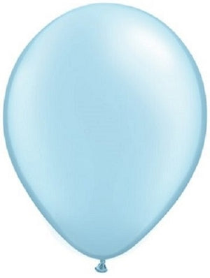 Qualatex 11 inch Pearl Light Blue Uninflated Latex Balloon