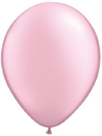 Qualatex 11 inch Pearl Pink Uninflated Latex Balloon