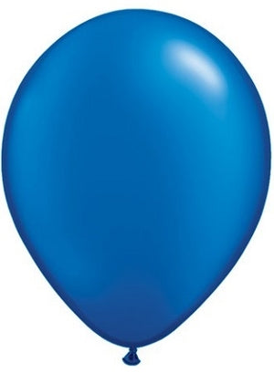 Qualatex 11 inch Pearl Sapphire Blue Uninflated Latex Balloon