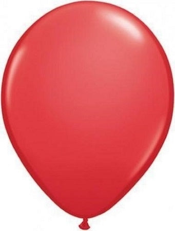 Qualatex 11 inch Red Uninflated Latex Balloon