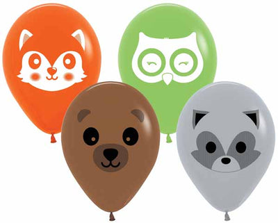 11 inch Woodland Critters Helium Balloon with Hi Float