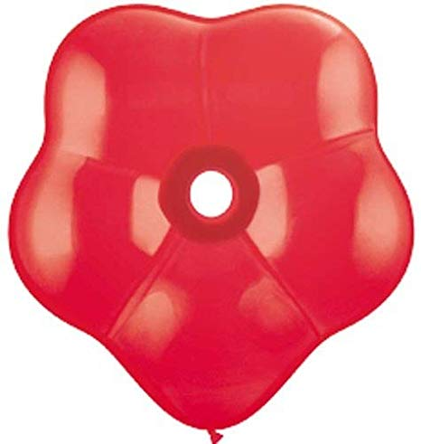 16 inch Geo Blossom Red Helium Balloon