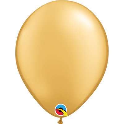 Qualatex 16 inch Pearl Gold Uninflated Latex Balloon