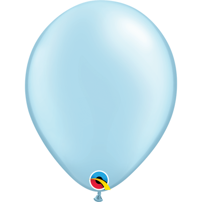 Qualatex 16 inch Pearl Light Blue Uninflated Latex Balloon