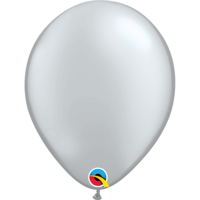 Qualatex 16 inch Pearl Silver Uninflated Latex Balloon
