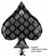 18 inch Black Ace of Spade Casino Foil Balloon