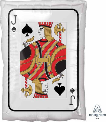 18 inch Jack Playing Card Casino Foil Balloon