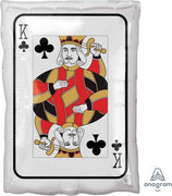 18 inch King Ace of Spade Playing Card Casino Foil Balloon