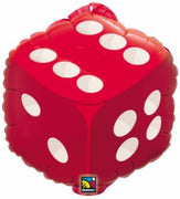 18 inch Red Die Dice Casino Foil  Balloons