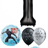 1st Birthday Black Panther Balloon Bouquet