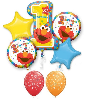 1st Birthday Elmo Balloon Bouquet