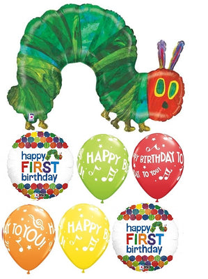 1st Birthday Very Hungry Caterpillar Balloon Bouquet