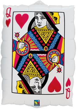 23 inch Queen of Heart Ace of Spade Playing Card Casino Foil Balloon