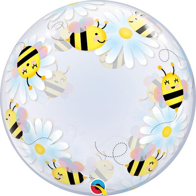24 inch Bees and Daisies Bubbles Balloons