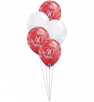40th Anniversary Balloon Bouquet 5
